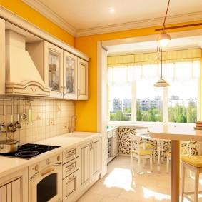 Papier peint de style provençal pour la conception de photos de cuisine