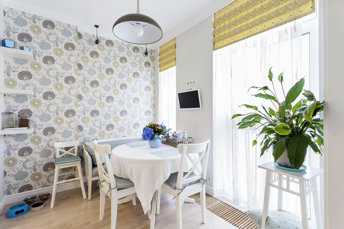 décoration de la cuisine avec du papier peint