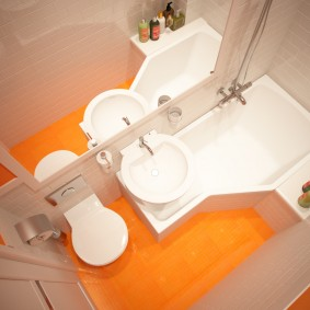 la conception de l'évier au-dessus de la salle de bain