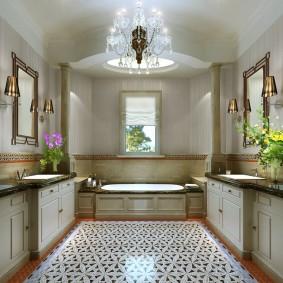 plancher de salle de bain