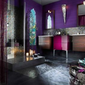 idées de conception de sols de salle de bains