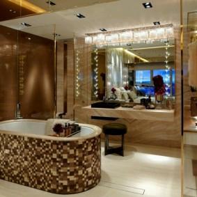 terminer l'intérieur de la photo du sol de la salle de bain