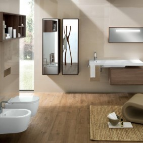 options de revêtement de sol pour salle de bain