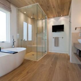 options de photo de plancher de salle de bains