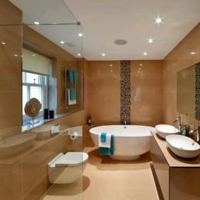 idées d'options de revêtement de sol pour salle de bain