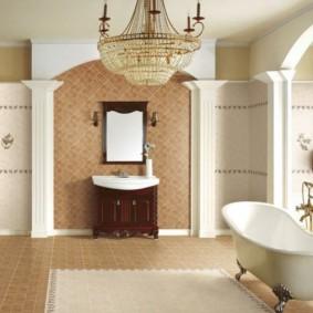 idées de revêtements de sol salle de bain