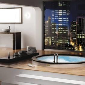 types de photos de finition de plancher de salle de bain