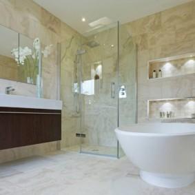 idées de revêtements de sol de salle de bain