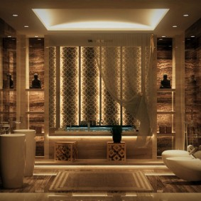 conception de plancher de salle de bains