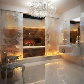 conception de photo de finition de plancher de salle de bains