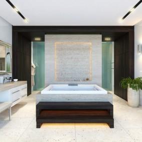 photo de conception de sol de salle de bain