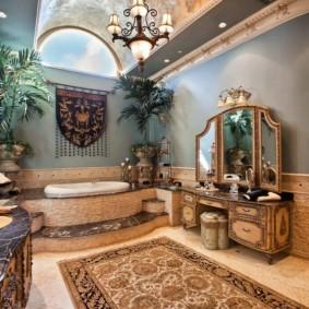idées de conception de sol de salle de bain