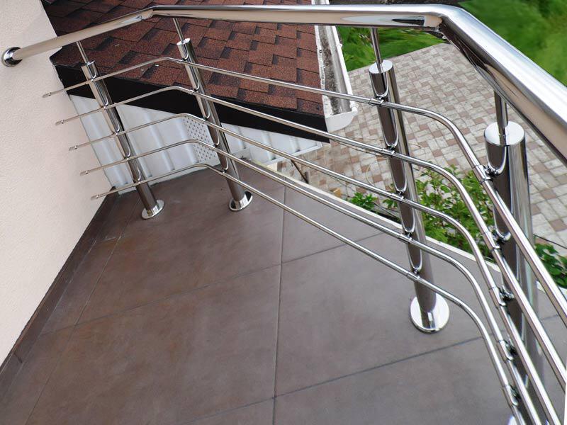 Clôture décorative pour balcon en acier inoxydable