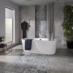 carreaux de porcelaine dans la salle de bain