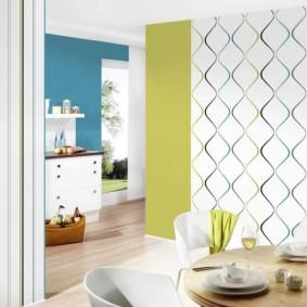 papier peint à l'intérieur du décor de la cuisine