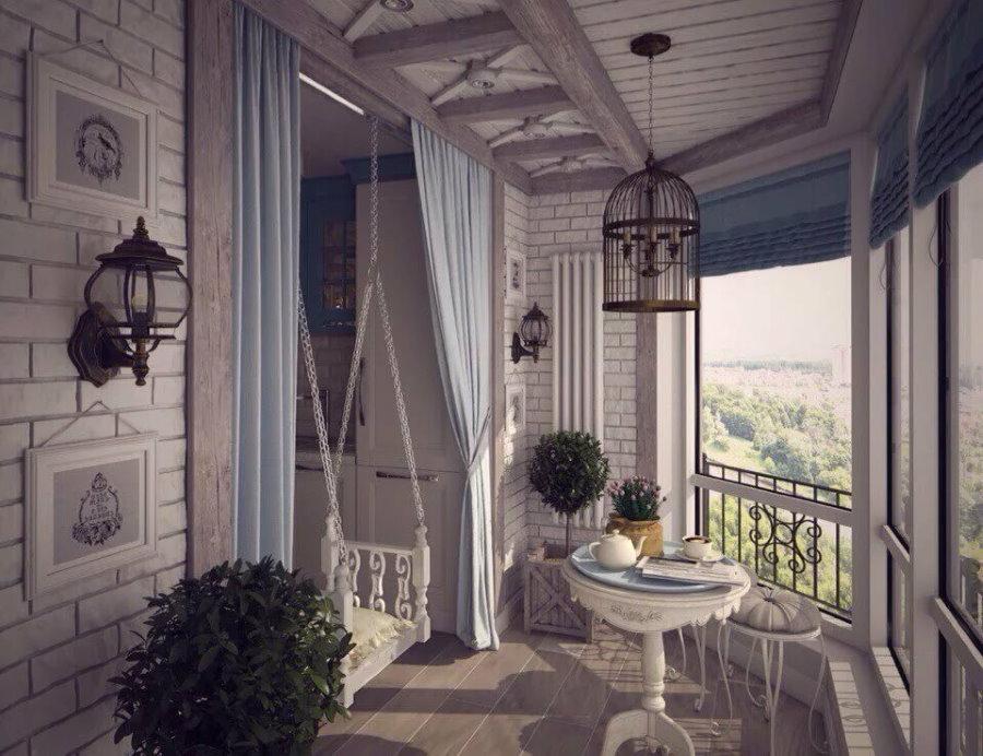 פרובנס בפנים המרפסת