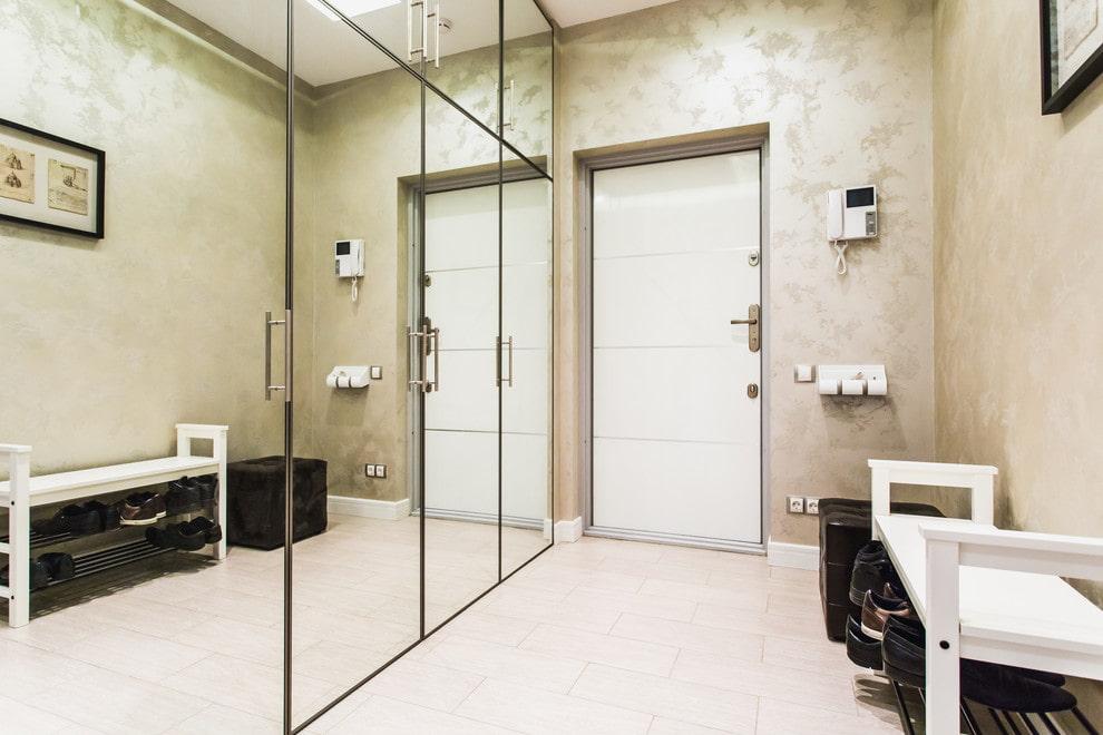 Armoire directe avec portes miroir