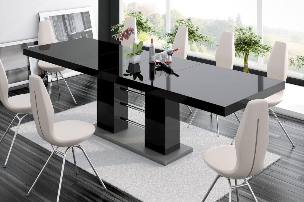 Table rectangulaire noire