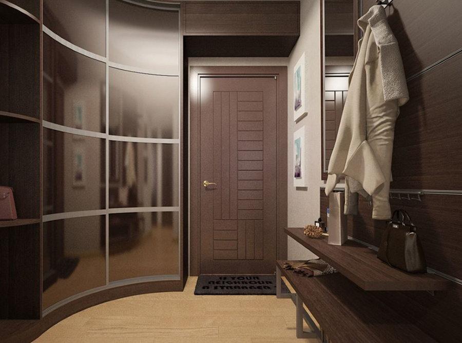 Intérieur du couloir avec armoire Radius