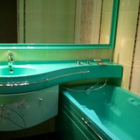 couler sur les idées de conception de salle de bain
