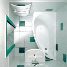 couler sur le décor photo de la salle de bain