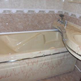 couler sur les idées de décoration de salle de bain