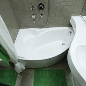 couler sur les idées d'intérieur de salle de bain
