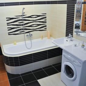 couler sur les idées intérieures de la salle de bain
