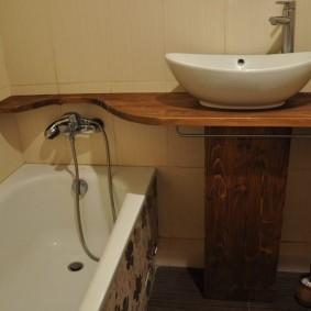 couler sur la décoration photo de la salle de bain