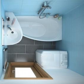 couler sur la salle de bain