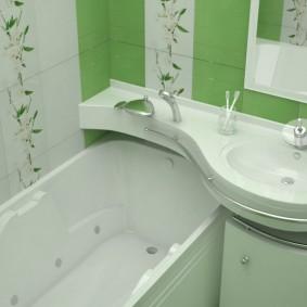 couler sur les idées de design de salle de bain