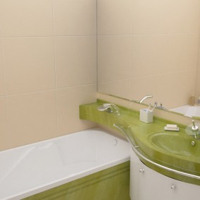 couler sur les options de photo de salle de bain