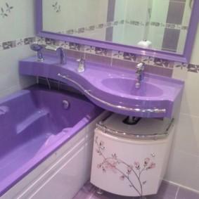 couler sur la salle de bain photo vues