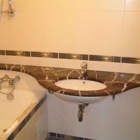 couler sur les idées de photo de salle de bain