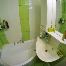 évier sur la baignoire photo design