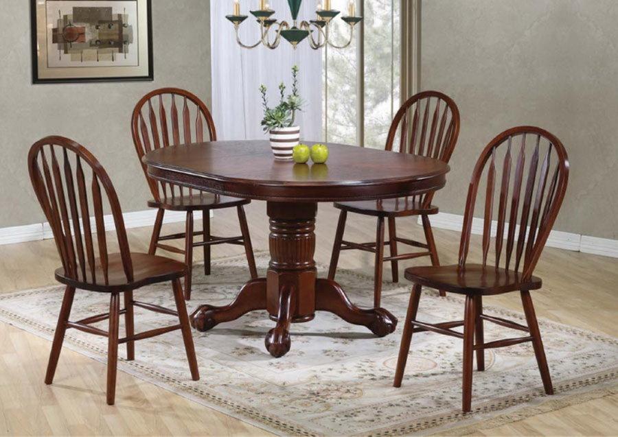 Table pliante en bois de style champêtre