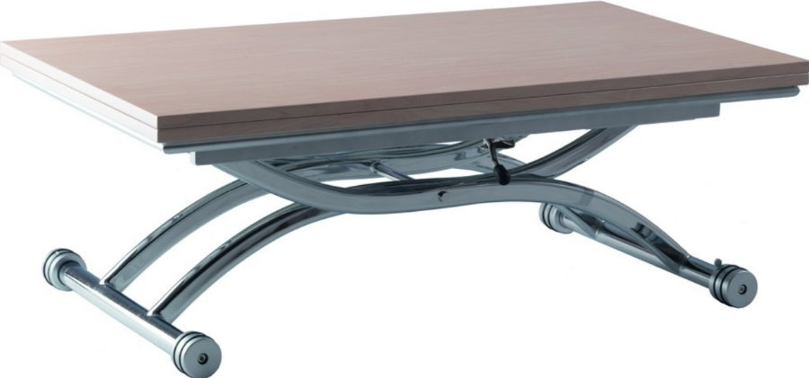 Table pliante avec pieds en métal
