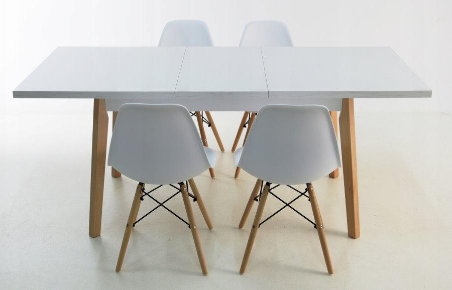 Table pliante scandinave blanche