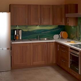 réparation de cuisine d'une superficie de 9 m² photo