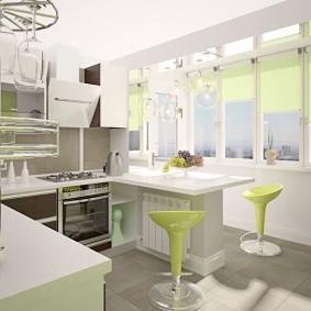 réparation de cuisine avec une superficie de 9 m² de décoration