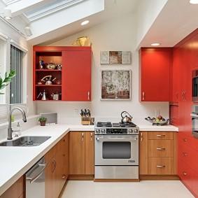 réparation de cuisine d'une superficie de 9 m²