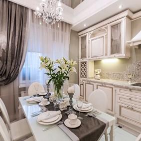 réparation de cuisine avec une superficie de 9 m² de décoration photo