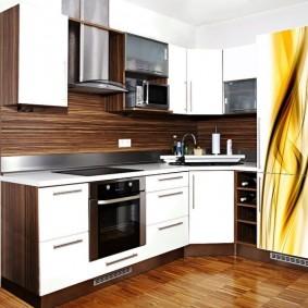 rénovation de cuisine d'une superficie de 9 m² options photo