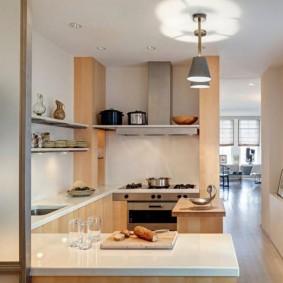 réparation de cuisine avec une superficie de 9 m² options photo