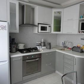 réparation de cuisine d'une superficie de 9 m² types de photos