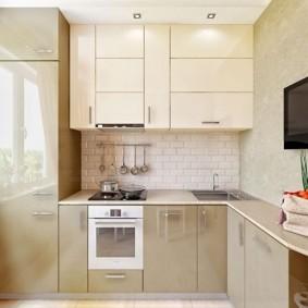 réparation de cuisine avec une superficie de 9 m² types de photos
