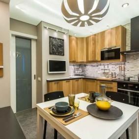 rénovation de cuisine d'une superficie de 9 m² types d'idées