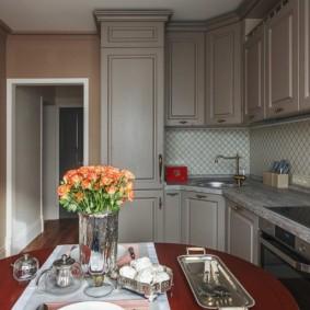 rénovation de cuisine d'une superficie de 9 m² types de design