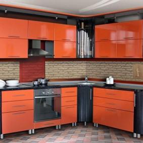 réparation de cuisine d'une superficie de 9 m² design