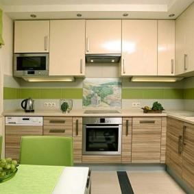 réparation de cuisine d'une superficie de 9 m² photo design